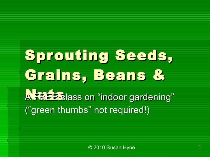 Sprouting Class - 20120121