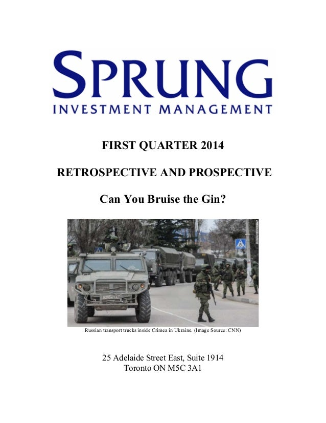 Sprung investment management commentary   1st quarter, 2014