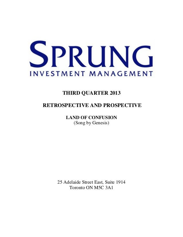 Sprung investment management commentary   3rd quarter, 2013