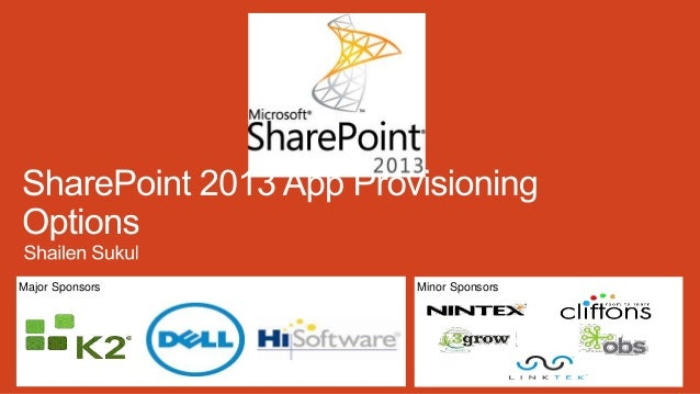 SharePoint 2013 App Provisioning Models