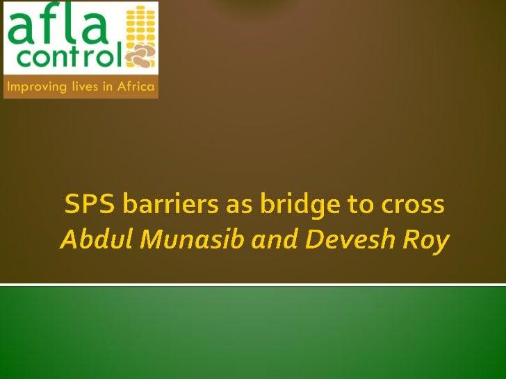 SPS barriers as a bridge to cross