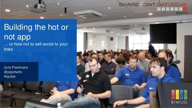 Building the SharePoint hot or not app ... or how not sell social to your boss