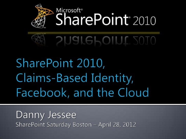 Claims-Based Identity, Facebook, and the Cloud