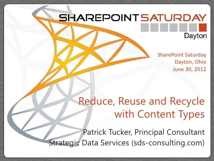 SharePoint Saturday                                       Dayton, Ohio                                      June 30, 2012 ...