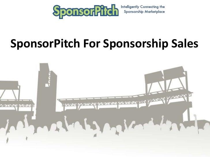 SponsorPitch For Sponsorship Sales