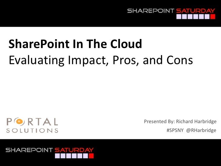 SPSNY 2012 - SharePoint In The Cloud