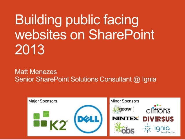 Building public facing websites on SharePoint 2013