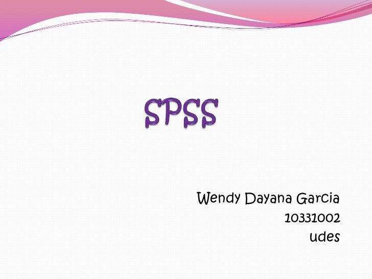 Wendy Dayana Garcia           10331002               udes