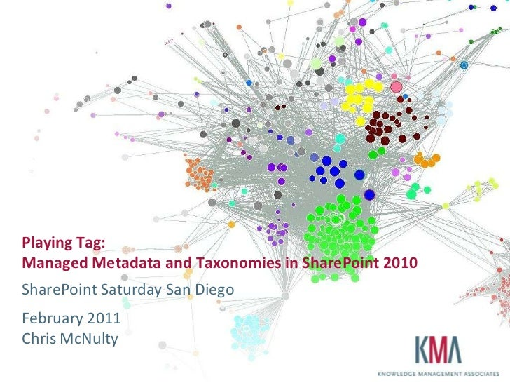 Playing Tag:Managed Metadata and Taxonomies in SharePoint 2010SharePoint Saturday San DiegoFebruary 2011Chris McNulty