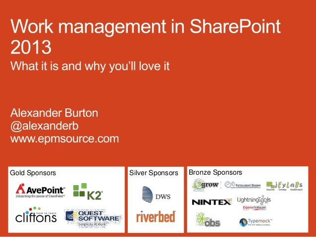Work Management in SharePoint 2013 - What it is and why you'll love it