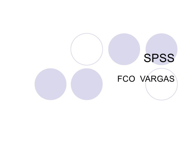 SPSS FCO  VARGAS