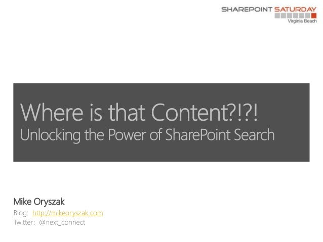 Unlocking the Power of SharePoint Search