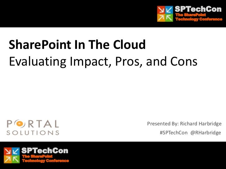 SPTechCon Boston 2012 - SharePoint In The Cloud