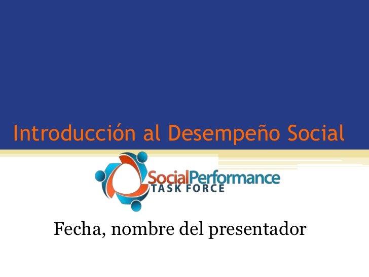 Introduction to social performance_en español