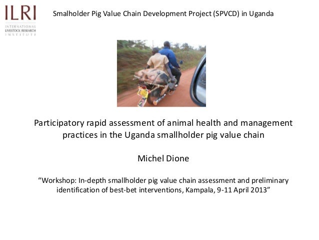 Smalholder Pig Value Chain Development Project (SPVCD) in UgandaParticipatory rapid assessment of animal health and manage...