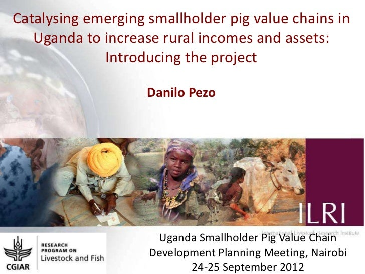 Catalysing emerging smallholder pig value chains in Uganda to increase rural incomes and assets: Introducing the project