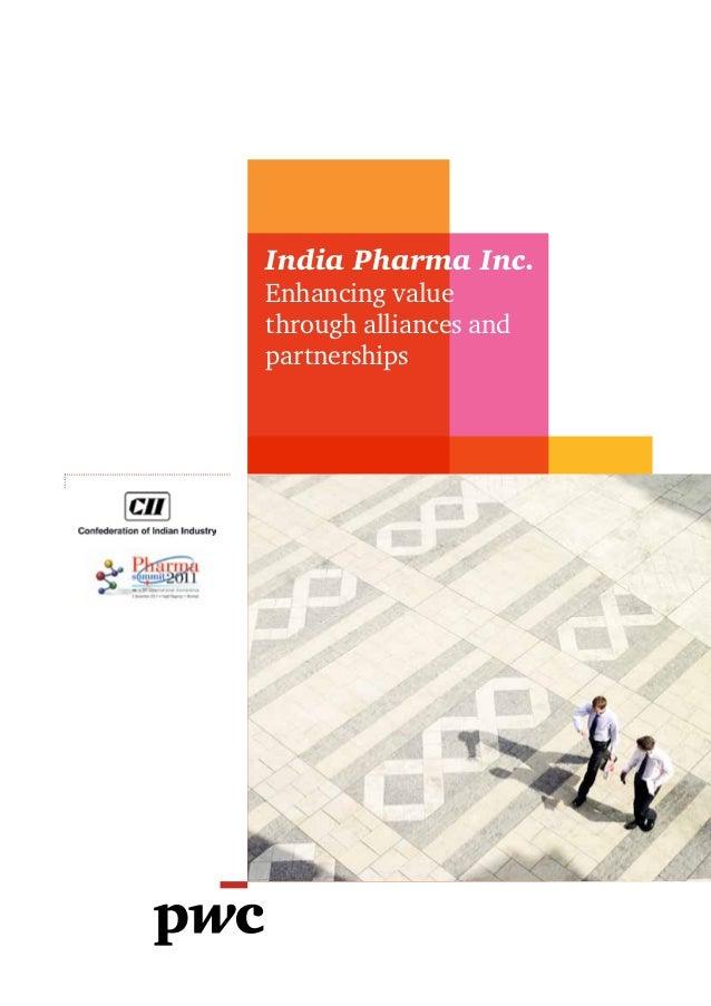 pwc cii-pharma_summit_enhancing value through partnerships