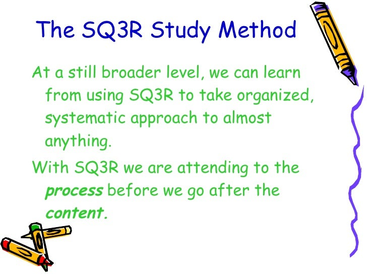 an experimental study of using sq3r Intro to psychology description chapter 1 total cards 96 sq3r: term the scientific study an experimental study c.