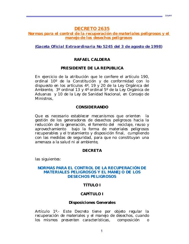 leyes decreto venezuela: