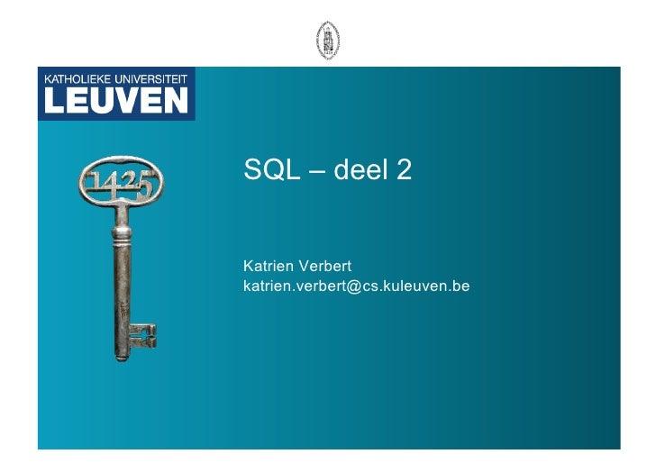 SQL deel 2