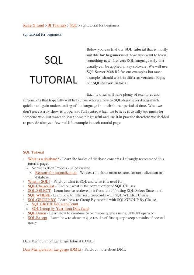 Sql tutorial-for-beginners-with-examples-and-sql-tutorial-pdf