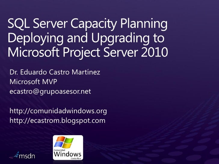 Sql 2008 and project server 2010