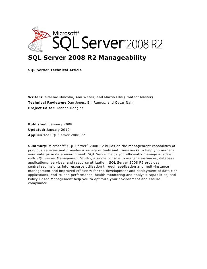 Sql 2008 r2_manageability_white_paper