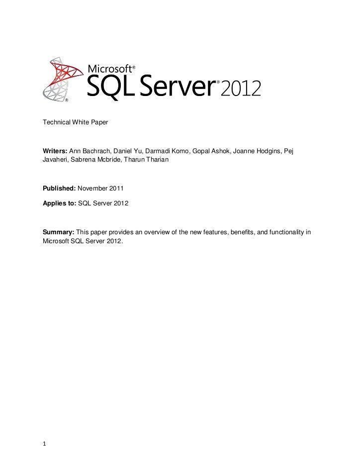 Sql2012 whats new_white_paper_final