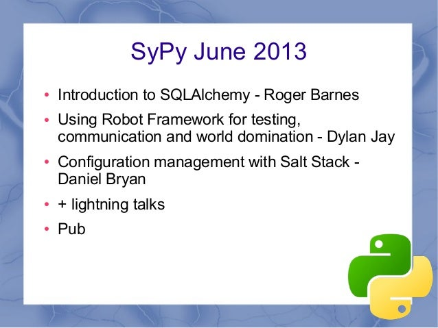 Introduction to SQL Alchemy - SyPy June 2013