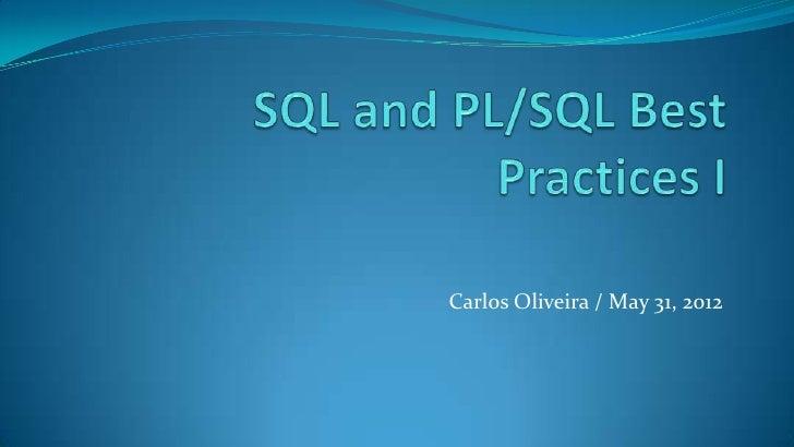 Carlos Oliveira / May 31, 2012