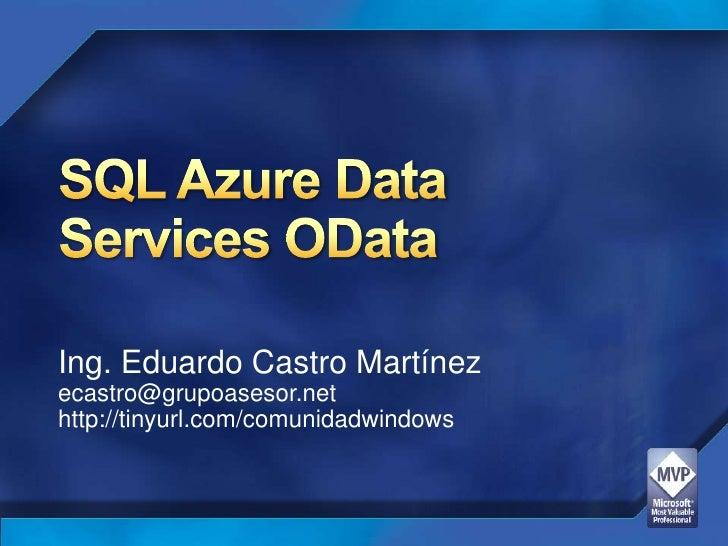 Sql azure data services OData
