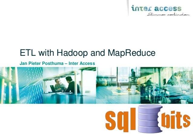 SQLBits XI - ETL with Hadoop
