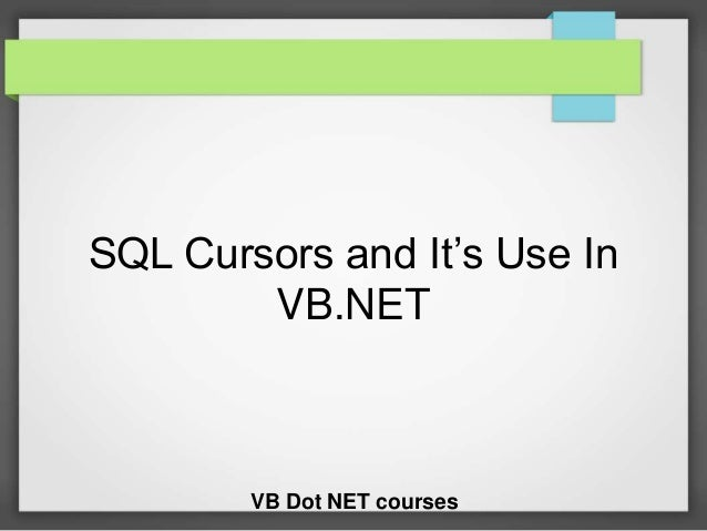 how to create cursor in sql