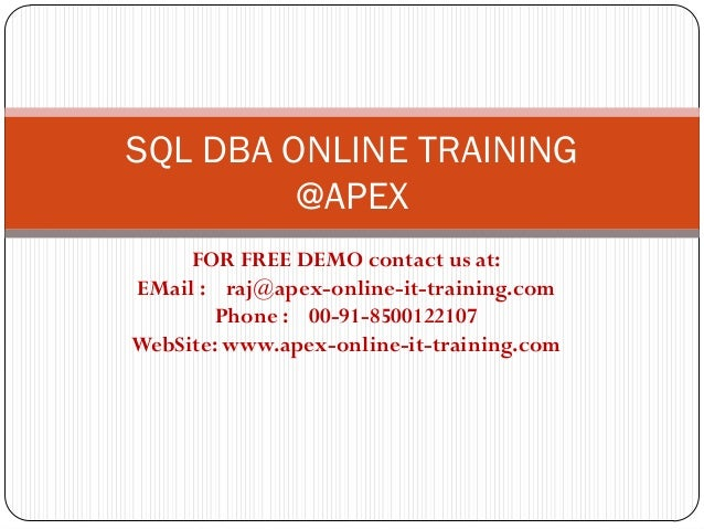 sql online training This pl/sql online training course provides you with the complete skills needed to create, implement and manage robust database applications using the.