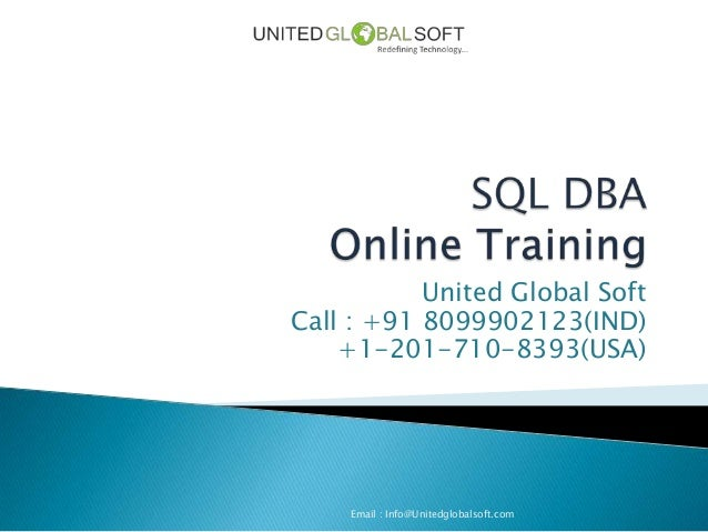 Sql dba training in india
