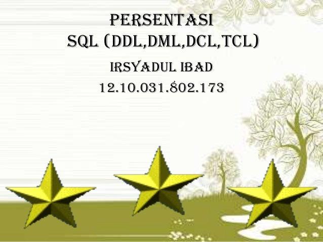 SQL(DDL,DML,DCL,TCL)