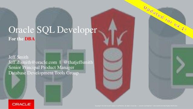Oracle SQL Developer for the DBA