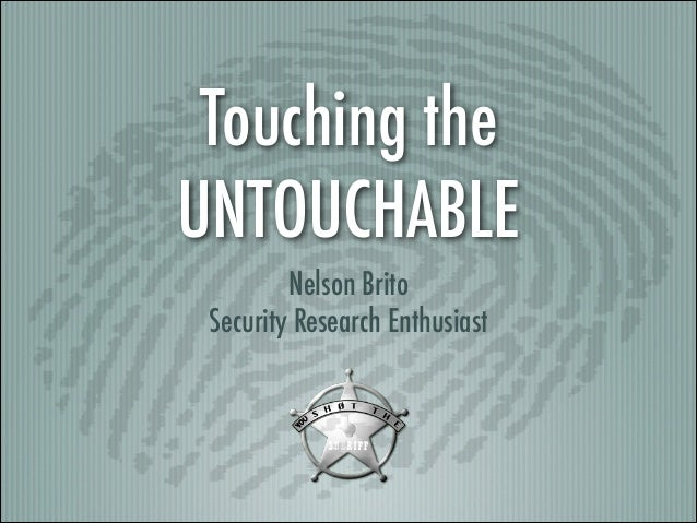 """Touching the UNTOUCHABLE"" (YSTS Seventh Edition)"
