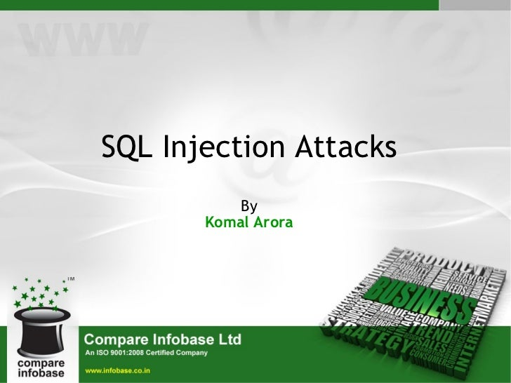SQL Injection Attacks