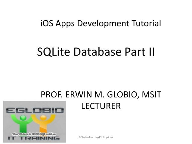 iOS Apps Development (SQLite Tutorial Part 2)
