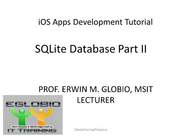 iOS Apps Development (SQLite Tutorial Part 2)