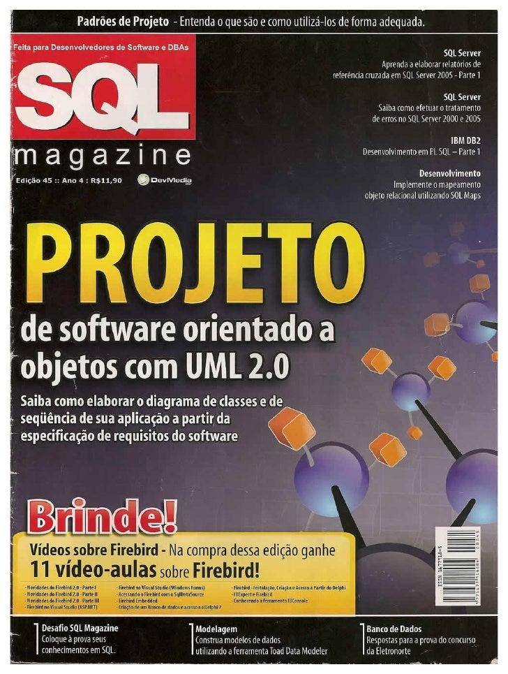 Sql Magazine 45   Projeto De Software Orientado A Objetos Com Uml2.0