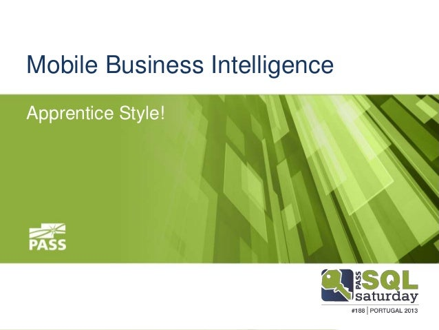 Microsoft mobile business intelligence SQLPass
