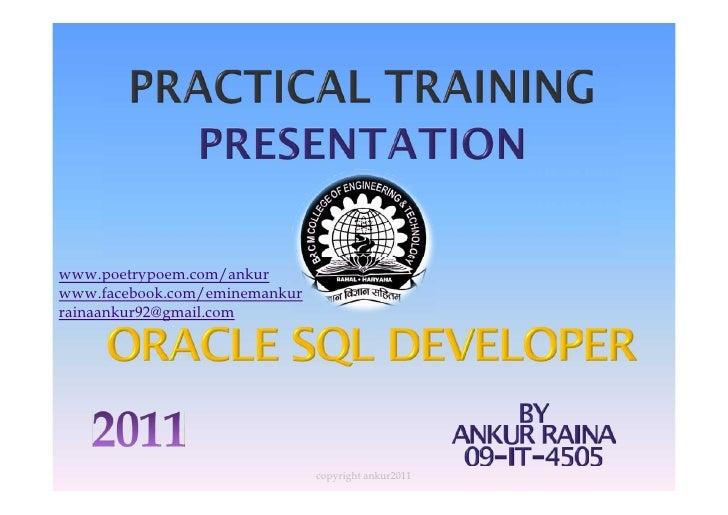 Sql project presentation