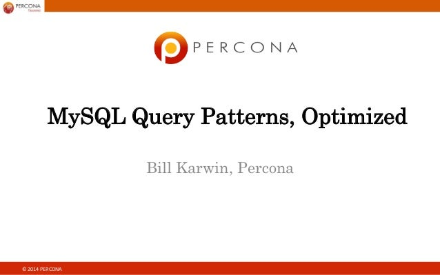 Sql query patterns, optimized