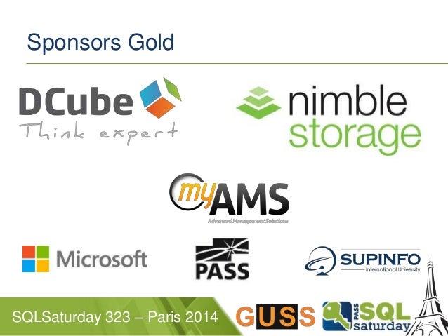 Sponsors Gold  SQLSaturday 323 – Paris 2014