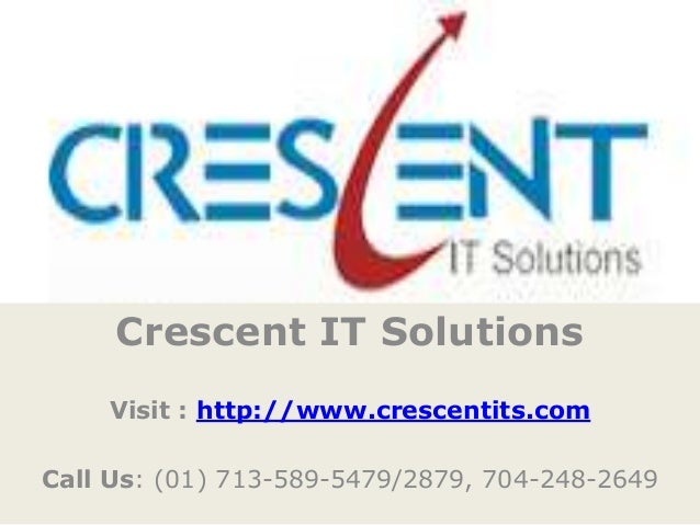 SQLServer Online Training and Placement @ Crescent IT Solutions