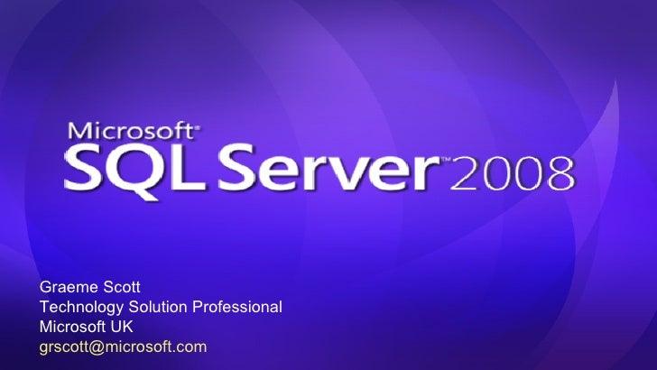 SQL Server 2008 Positioning