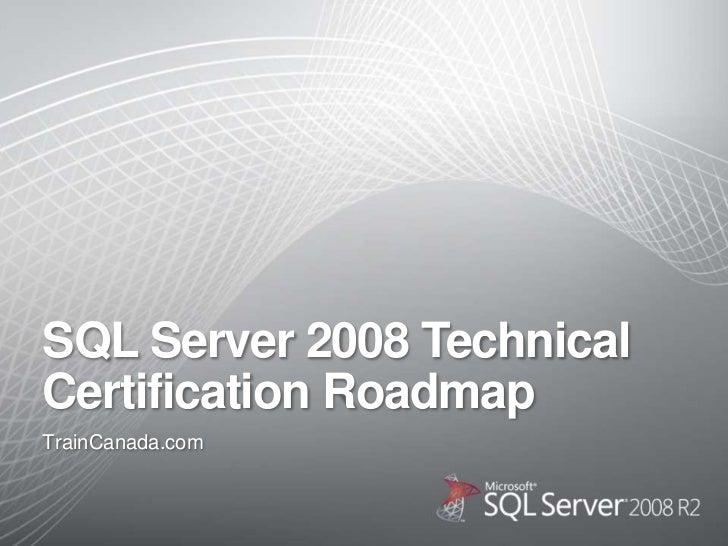 Sql Server 2008 Roadmap