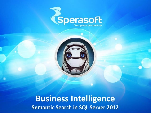 Business Intelligence Semantic Search in SQL Server 2012
